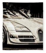 Bugatti Legend - Veyron Special Edition -0844scl2 Fleece Blanket by Jill Reger