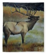Bugling Elk Fleece Blanket