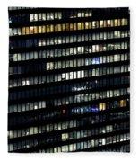Building At Night In Tokyo Fleece Blanket