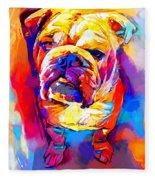 Bulldog 4 Fleece Blanket