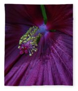 Burgundy Hibiscus Fleece Blanket