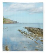 Burnmouth Shore, Cliffs And North Sea Fleece Blanket