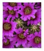 Burst Of Fuchsia Cactus Flowers Fleece Blanket