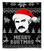 Burt Reynolds Christmas Shirt Fleece Blanket