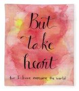 But Take Heart Fleece Blanket
