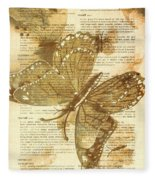 Butterfly Antiquities Fleece Blanket
