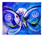 Butterfly Blue Violet Fleece Blanket