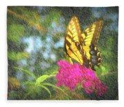 Butterfly Likeness  Fleece Blanket