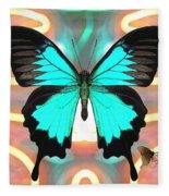 Butterfly Patterns 21 Fleece Blanket