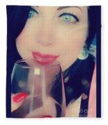 Buveur De Vin Fleece Blanket