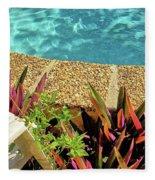 By The Pool Fleece Blanket