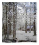 Cabin In The Smoky's II Fleece Blanket