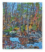 Cade's Land Trail Along The Eno Fleece Blanket