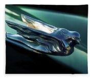 Cadillac Hood Ornament Fleece Blanket