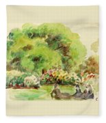 Cagnes Landscape Fleece Blanket