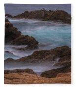 California Coastal Water Motion Fleece Blanket