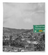 California Highway 101 Fleece Blanket