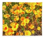 California Poppies - 2019 #3 Fleece Blanket