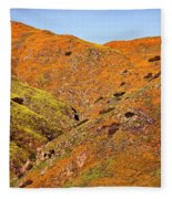 California Poppy Hills Fleece Blanket
