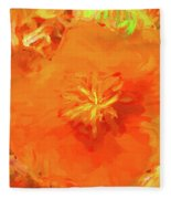 California Poppy Inside Fleece Blanket