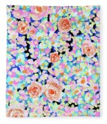 California Rose Garden Fleece Blanket