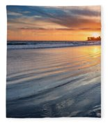 California Sunset V Fleece Blanket