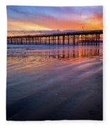 California Sunset Vii Fleece Blanket