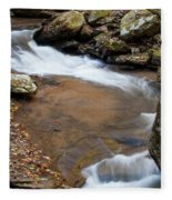 Calming Water Sounds - North Carolina Fleece Blanket