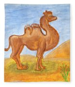 Camel Fleece Blanket