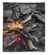 Camp Fire Fleece Blanket