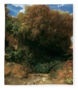Campagna Landscape 1858 Fleece Blanket