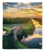 Canal Sunrise Fleece Blanket