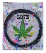 Cannabis With Love Fleece Blanket