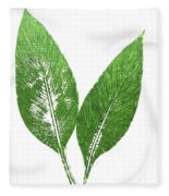 Cannas Leaves Fleece Blanket