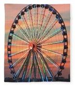 Capital Wheel Shining At Sunset  Fleece Blanket