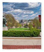Capitol - Madison - Wisconsin From Bascom Hall Fleece Blanket