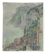 Capri, 1897  Fleece Blanket