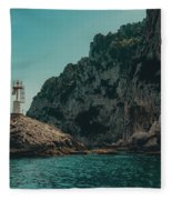 Capri Lighthouse Fleece Blanket