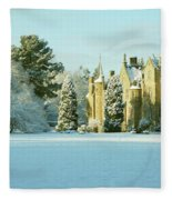 Carberry Tower In Late Afternoon Sunshine Fleece Blanket