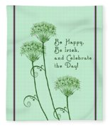Card For St. Patrick's Day Fleece Blanket