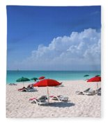 Caribbean Blue Fleece Blanket