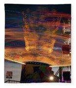Carnival Rides Motion Blur Fleece Blanket