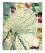 Carolina Beach Ferris Wheel Fleece Blanket