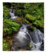 Cascades Of Lee Falls Fleece Blanket