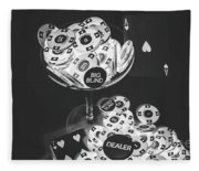 Casino Cocktail Fleece Blanket