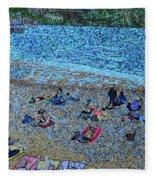 Cassis, France Fleece Blanket