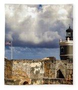 Castillo San Felipe Del Morro Lighthouse San Juan, Puerto Rico  Fleece Blanket