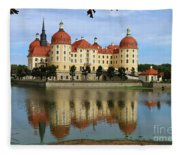 Castle Moritzburg  Fleece Blanket