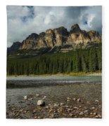 Castle Mountain Fleece Blanket