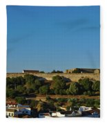 Castle Of Castro Marim From The Hill Fleece Blanket